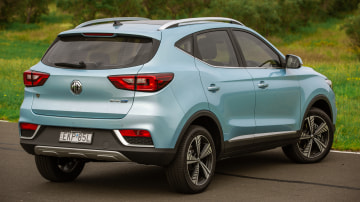 Drive Car of the Year Best Electric Vehicle 2021 finalist MG ZS EV rear exterior view