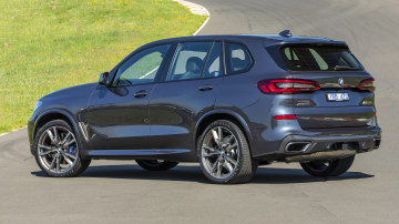 Drive Car of the Year Best Large Luxury SUV 2021 finalist BMW X5 rear exterior view