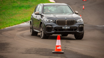 Drive Car of the Year Best Large Luxury SUV 2021 finalist BMW X5 driven on road circuit