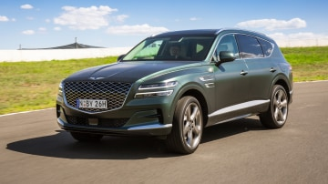 Drive Car of the Year Best Large Luxury SUV 2021 finalist Genesis GV80 front exterior view