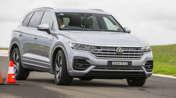 Drive Car of the Year Best Large Luxury SUV 2021 finalist Volkswagen Touareg driven on road circuit