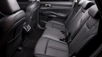 Drive Car of the Year Best Large SUV 2021 finalist Kia Sorento rear seating as viewed from window