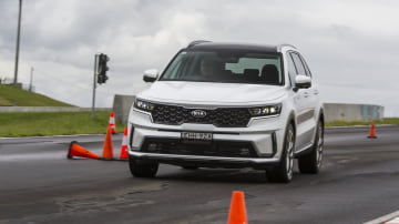 Drive Car of the Year Best Large SUV 2021 finalist Kia Sorento driven on road circuit
