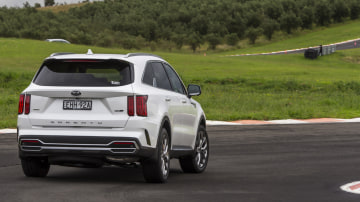 Drive Car of the Year Best Large SUV 2021 finalist Kia Sorento rear exterior view