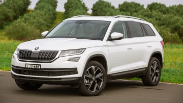 Drive Car of the Year Best Large SUV 2021 finalist Skoda Kodiaq front exterior view