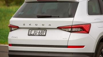 Drive Car of the Year Best Large SUV 2021 finalist Skoda Kodiaq rear exterior close-up