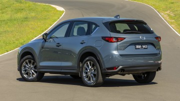 Drive Car of the Year Best Medium SUV 2021 finalist Mazda CX-5 rear exterior view