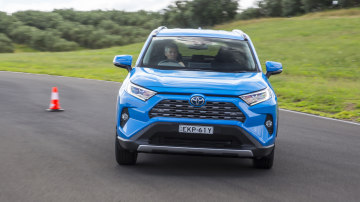 Drive Car of the Year Best Medium SUV 2021 finalist Toyota Rav 4 front exterior view on road