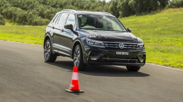 Drive Car of the Year Best Medium SUV 2021 finalist Volkswagen Tiguan driven on road circuit