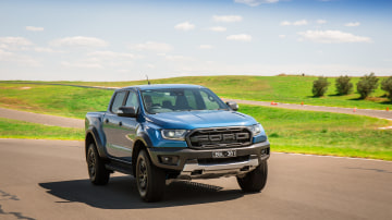Drive Car of the Year Best Off-Road SUV 2021 finalist Ford Ranger Raptor driven on a road circuit