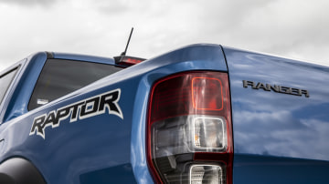 Drive Car of the Year Best Off-Road SUV 2021 finalist Ford Ranger Raptor rear left tail light and labels