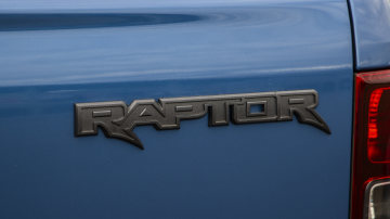 Drive Car of the Year Best Off-Road SUV 2021 finalist Ford Ranger Raptor rear exterior label close-up