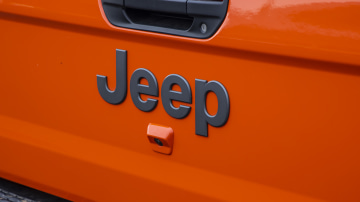 Drive Car of the Year Best Off-Road SUV 2021 finalist Jeep Gladiator Rubicon Jeep label close-up