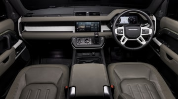Drive Car of the Year Best Off-Road SUV 2021 finalist Land Rover Defender front interior seating and dashboard view