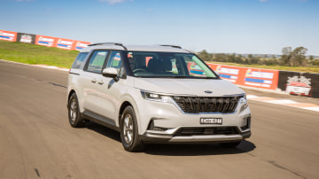 Drive Car of the Year Best People Mover 2021 finalist Kia Carnival on road circuit