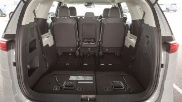 Drive Car of the Year Best People Mover 2021 finalist Kia Carnival open boot interior