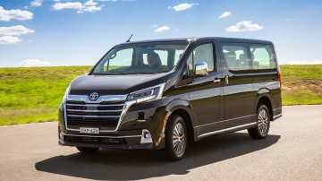 Drive Car of the Year Best People Mover 2021 finalist Toyota Granvia front view on road