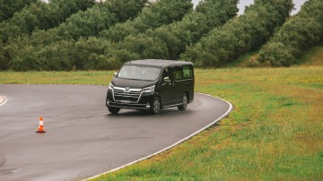 Drive Car of the Year Best People Mover 2021 finalist Toyota Granvia on road circuit