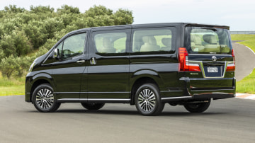 Drive Car of the Year Best People Mover 2021 finalist Toyota Granvia left side and rear view