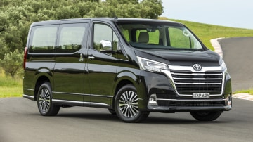 Drive Car of the Year Best People Mover 2021 finalist Toyota Granvia front exterior view