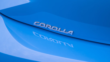 Drive Car of the Year Best Small Car of 2021 finalist Toyota Corolla Hybrid Hatch rear label