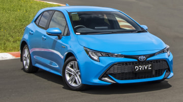 Drive Car of the Year Best Small Car of 2021 finalist Toyota Corolla Hybrid Hatch front exterior view