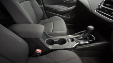 Drive Car of the Year Best Small Car of 2021 finalist Toyota Corolla Hybrid Hatch interior front seating