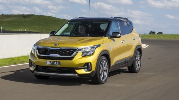 Drive Car of the Year Best Small SUV 2021 finalist Kia Seltos front exterior view