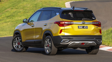 Drive Car of the Year Best Small SUV 2021 finalist Kia Seltos rear exterior view