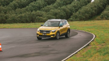 Drive Car of the Year Best Small SUV 2021 finalist Kia Seltos driven on road circuit