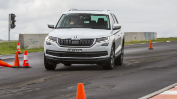 Drive Car of the Year Best Small SUV 2021 finalist Skoda Kamiq driven on road circuit