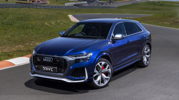 Drive Car of the Year Sports Performance SUV 2021 finalist Audi RSQ8 front exterior view