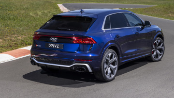 Drive Car of the Year Sports Performance SUV 2021 finalist Audi RSQ8 rear exterior view