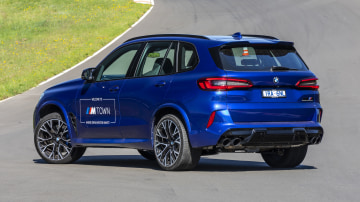Drive Car of the Year Sports Performance SUV 2021 finalist BMW X5 rear exterior view