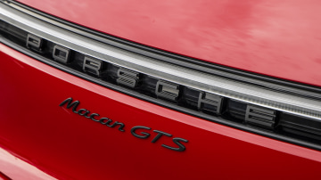 Drive Car of the Year Sports Performance SUV 2021 finalist Porsche Macan GTS label close-up