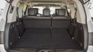 Drive Car of the Year Best Upper Large SUV 2021 finalist Nissan Patrol open boot interior