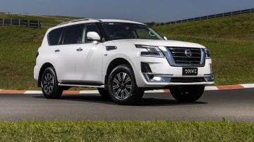 Drive Car of the Year Best Upper Large SUV 2021 finalist Nissan Patrol front exterior view