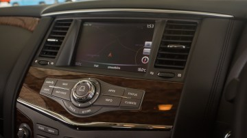 Drive Car of the Year Best Upper Large SUV 2021 finalist Nissan Patrol infotainment system