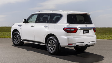 Drive Car of the Year Best Upper Large SUV 2021 finalist Nissan Patrol rear exterior view