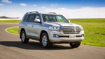Drive Car of the Year Best Upper Large SUV 2021 finalist Toyota Landcruiser front exterior view