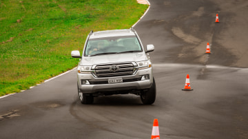 Drive Car of the Year Best Upper Large SUV 2021 finalist Toyota Landcruiser driven on road circuit