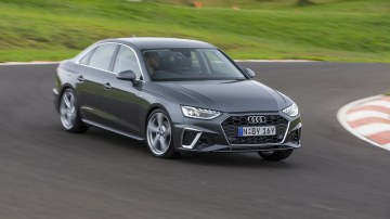 Drive Car of the Year Best Medium Luxury Car 2021 finalist Audi A5 driven around bend