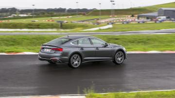 Drive Car of the Year Best Medium Luxury Car 2021 finalist Audi A5 driven on road