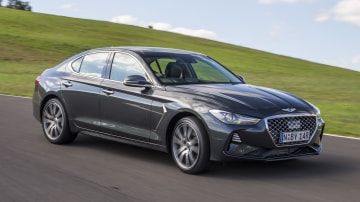 Drive Car of the Year Best Medium Luxury Car 2021 finalist Genesis G70 exterior front view