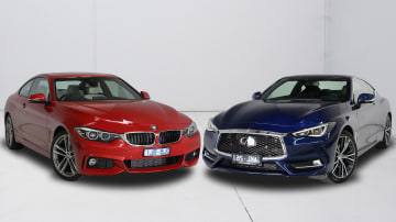 2017 BMW 420i v Infiniti Q60 GT.