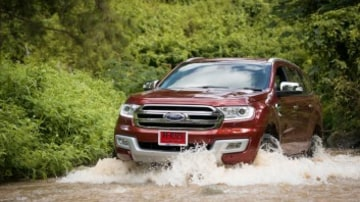 Australians are buying SUVs, like the Ford Everest pictured, in record numbers.