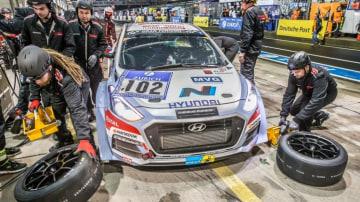 Hyundai i30 N at the Nurburgring 24 Hour race.