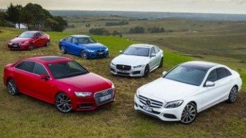 Audi A4 v BMW 3-Series v Jaguar XE v Lexus IS v Mercedes-Benz C-Class