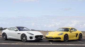 Head to head: Jaguar F-Type R-Dynamic vs Porsche 718 Cayman GTS