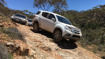Isuzu MU-X tackled the Flinders Ranges with aplomb.